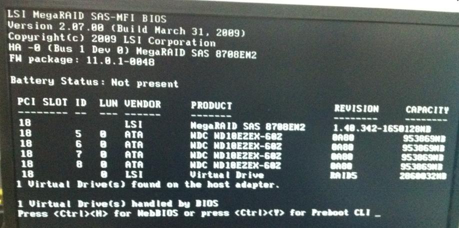 lsi raid 卡如何在开机屏幕上显示磁盘信息_百度知道