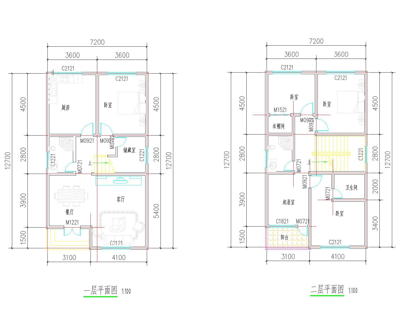 农村房屋自建平面图