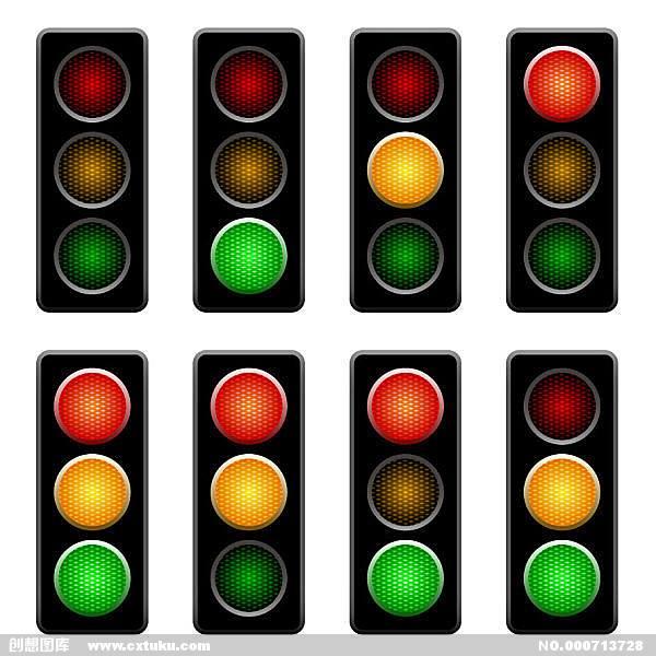 开车在十字路口走到一半绿灯变黄灯又接着变红