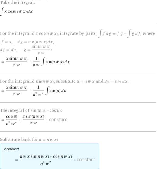 傅里叶余弦级数公式