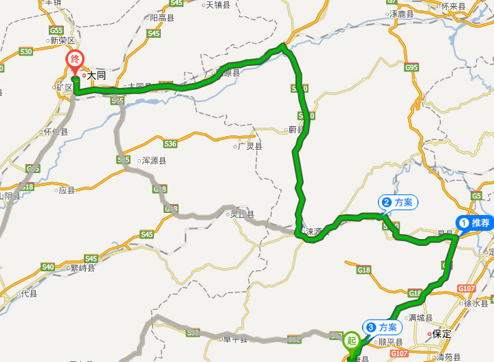 唐县地图 沟景区