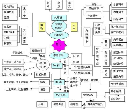 生物必修一第一章总结框架图