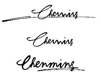 英文名字個性簽名設計 chenming圖片