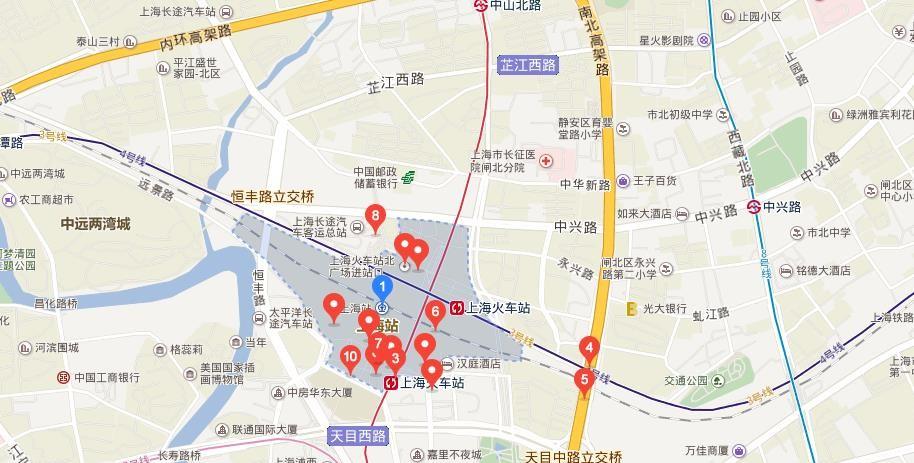 上海市闸北区秣陵路_上海高铁站在哪_百度知道