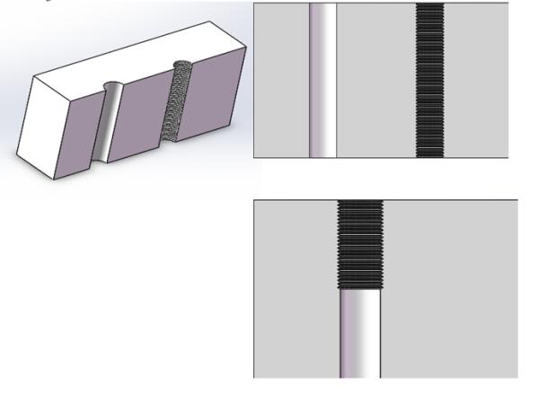 光孔和螺纹孔重复时怎么表示