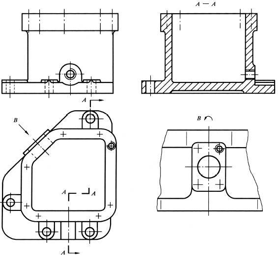 机械制图半剖视图_机械制图剖视图用A-A标注。向视图用什么字母开始标注?_百度知道