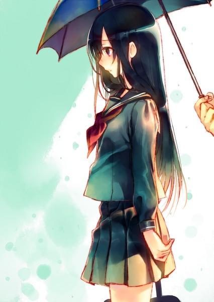 撑伞动漫头像_求一张男生在给女生系围巾或者撑伞的卡通图片,.要卡通的,在线 ...