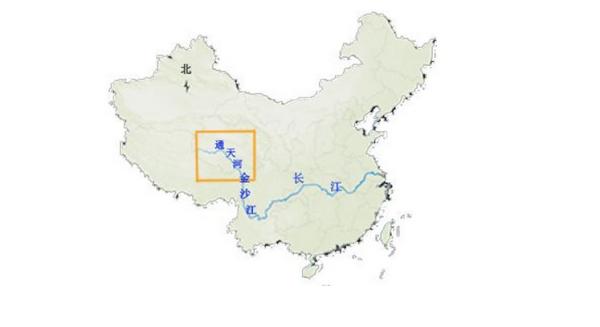 中国地图上黄河的位置_长江在中国地图的什么位置_百度知道