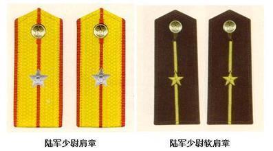 中国人民解放军军衔上面一杆中间一个五角星下面一杆是什么军衔