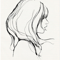 可爱的女孩系列头像简笔画