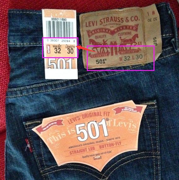 【w】牛仔裤尺寸前标的W,L是什么意思