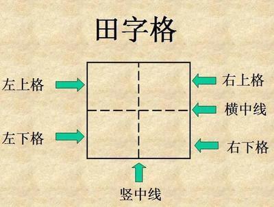 笔画田字格写法