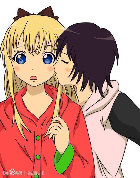 强吻女生的漫画_男生拉手腕强吻动漫图片_百度知道