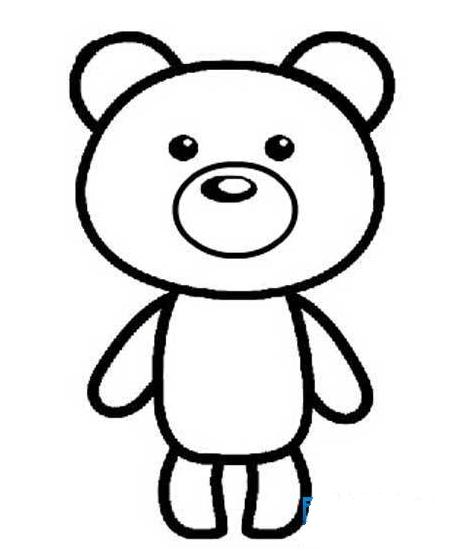小熊长什么样简笔画气愤