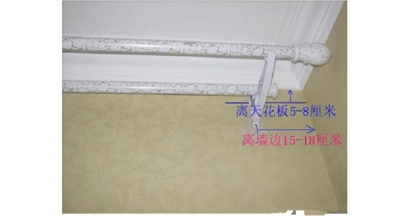 '罗马窗帘杆'以及窗帘两头如何安装?