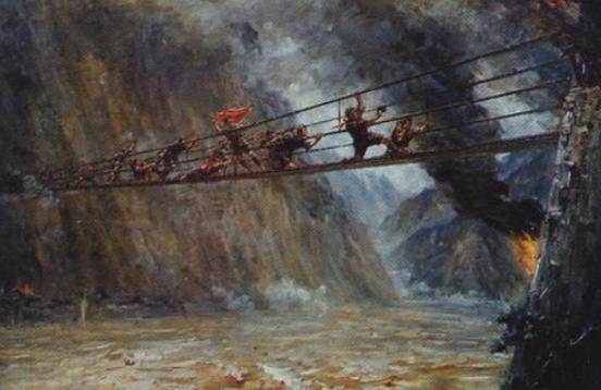 飞夺泸定桥虚构_飞夺泸定桥的主要内容,按课文。_百度知道