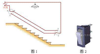 楼梯灯电路图 怎么画