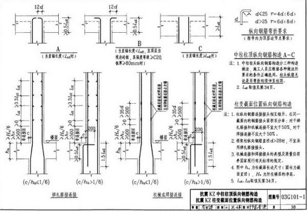建筑钢筋图集_柱子既要变截面有要变钢筋_百度知道