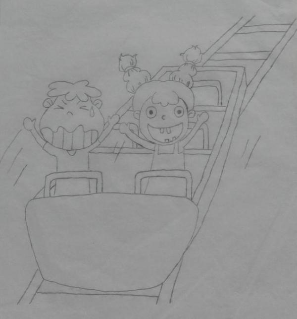 简笔画过山车