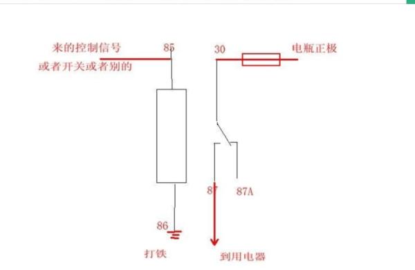 汽车继电器接线图