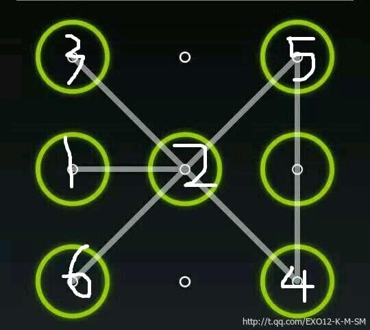 九宫格锁屏_exo九宫格锁屏图案教程_百度知道
