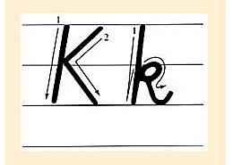 k的笔顺查 K的写法是咋样的