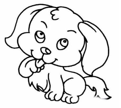 儿童动物简笔画,简单的小狗简笔画