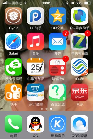 苹果手机已越狱,有谁会改信号和wifi的图标的图片