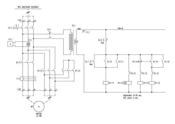 三个接触器控制电动机星三角降压起动,求主电路和控制电路图图片