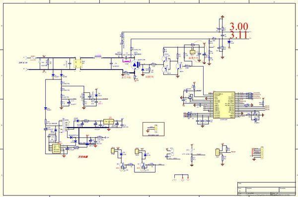 美的电磁炉电路图.图片