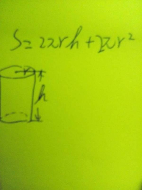 圆柱的表面积公式,字母表示,全部图片