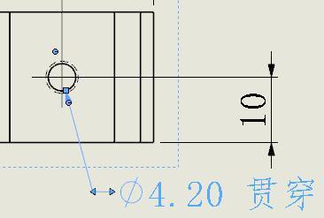 orks工程图标注螺纹孔时却都出现通孔贯穿,以前是出现螺纹等级标