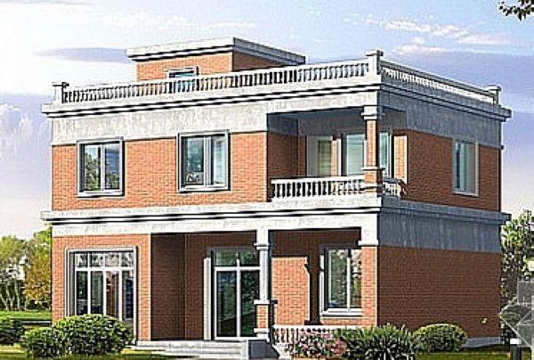 新乡地区农村自建二层楼房外观图都有哪种 我想盖的房子东西长16米