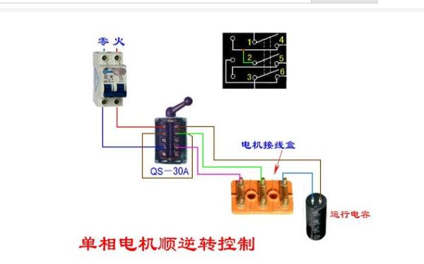 220v交流电机正反转_220V 正反转开关怎么接线、?求线路图_百度知道