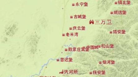 看看明代中后期的东北边防:明万历初辽东布城图