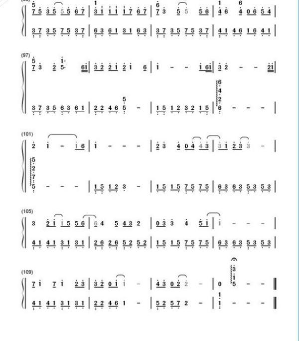 纸短情长钢琴简谱数字_纸短情长钢琴简谱