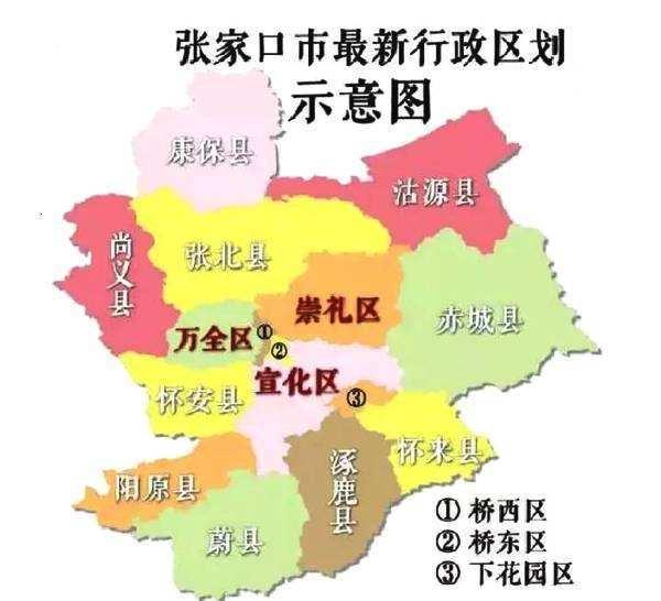 张家口各县区人口_张家口16区县人口一览 宣化区60万,尚义县18万