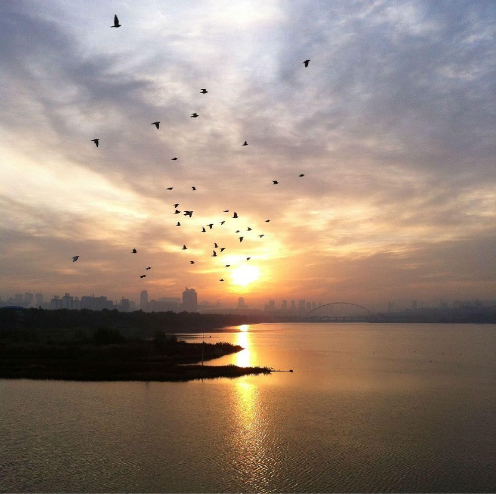 三門峽,早上好圖片