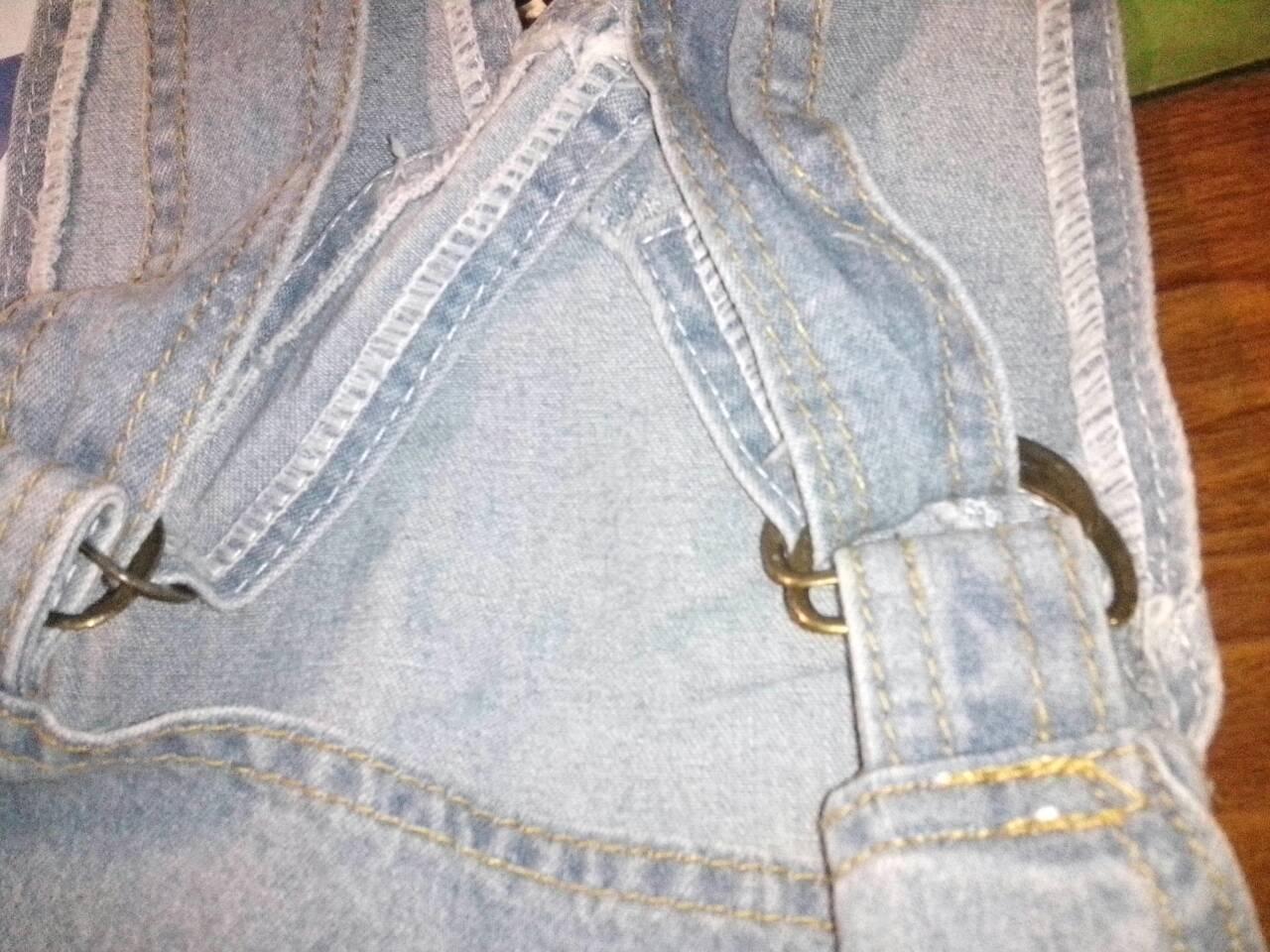 背带裤的扣子怎么装图解法_这是背带裤的扣子 怎么扣上去_百度知道