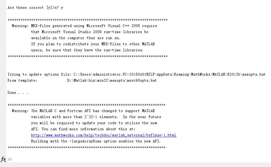 要生成一个用来编译成mex文件的 cpp文件,在Matlab输入mex