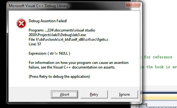 C语言问题代码不能运行Debug Assertion Failed_百度知道