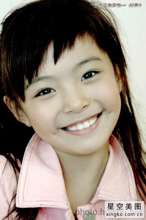 女童星排行榜00后_中国最漂亮的女童星的照片_百度知道