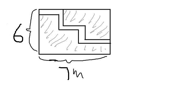 一块长方形苗圃的长_在一块长方形草地上,有一条宽1M的小路(如图),长是7M, 宽是6M ...