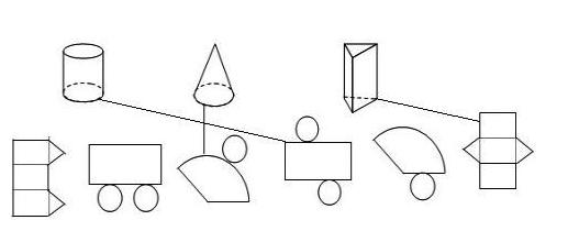 圆柱体的平面图_圆柱、圆锥、三棱柱平面展开图怎么画_百度知道