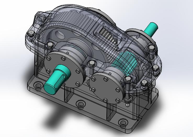 一级减速器夹具图_一级斜齿圆柱齿轮减速器装配体三维solidworks图,谢谢_百度知道