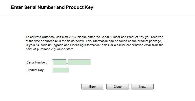 3ds max serial number and product key 2013