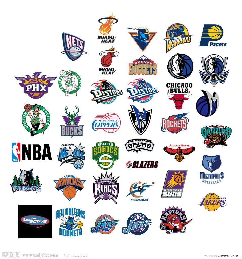 足球球队标志和名字_美国NBA球队的标志所在州及名称_百度知道