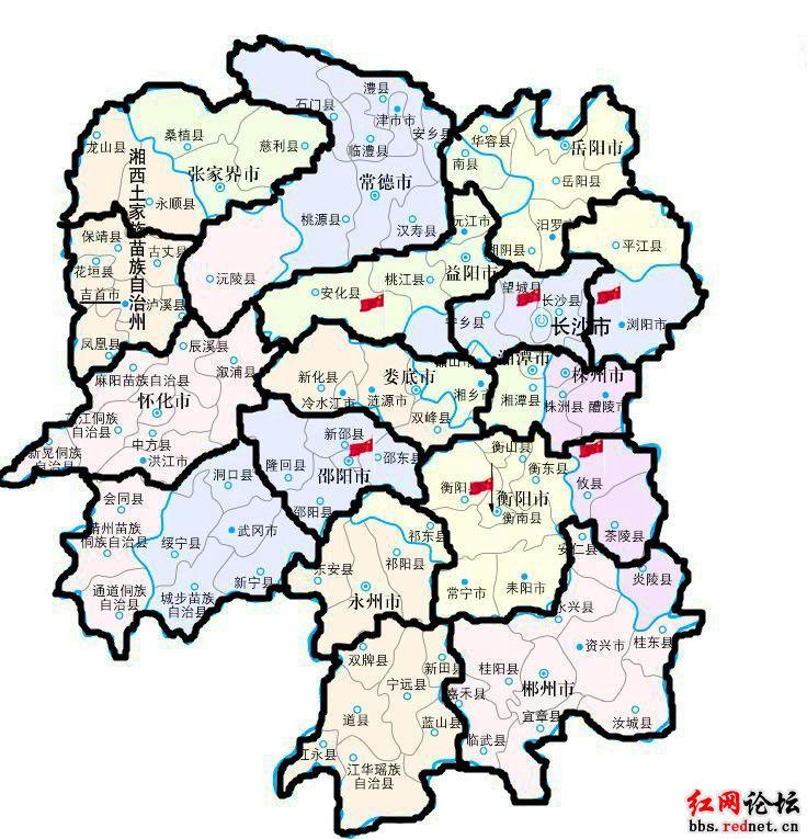 湖南省龙山县乡镇地图