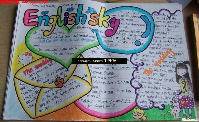 小学生有关学习的手抄报图片_小学生英语手抄报图片_百度知道