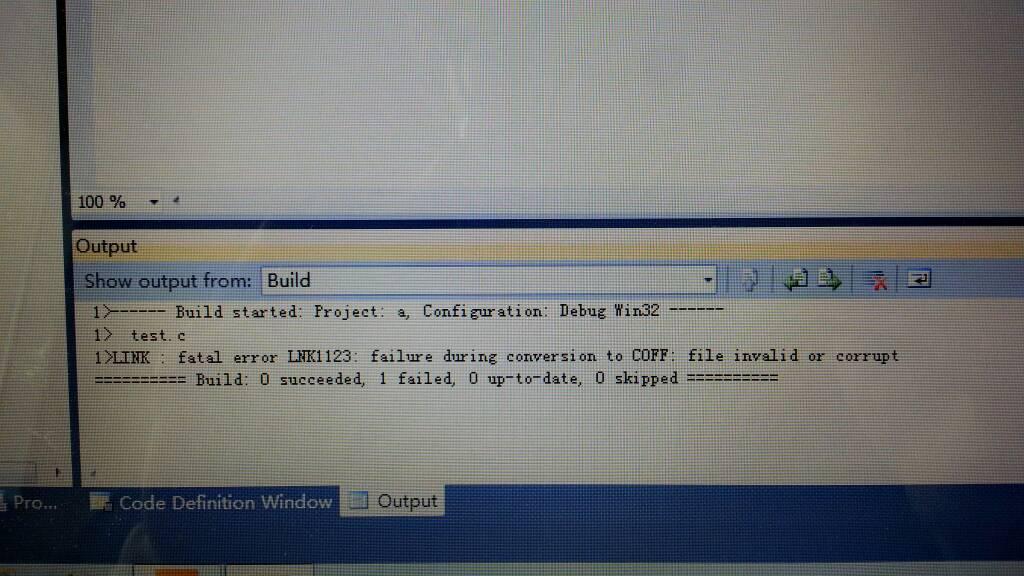 用VS C++2010 express编了一个最简单的c语言